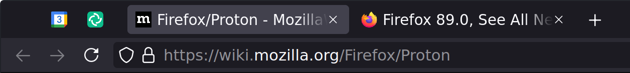 Firefox with stock theme
