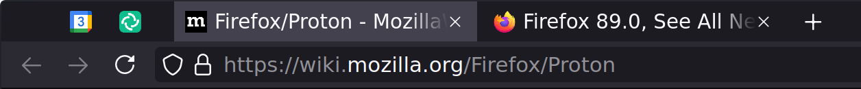 Firefox with full-height tabs