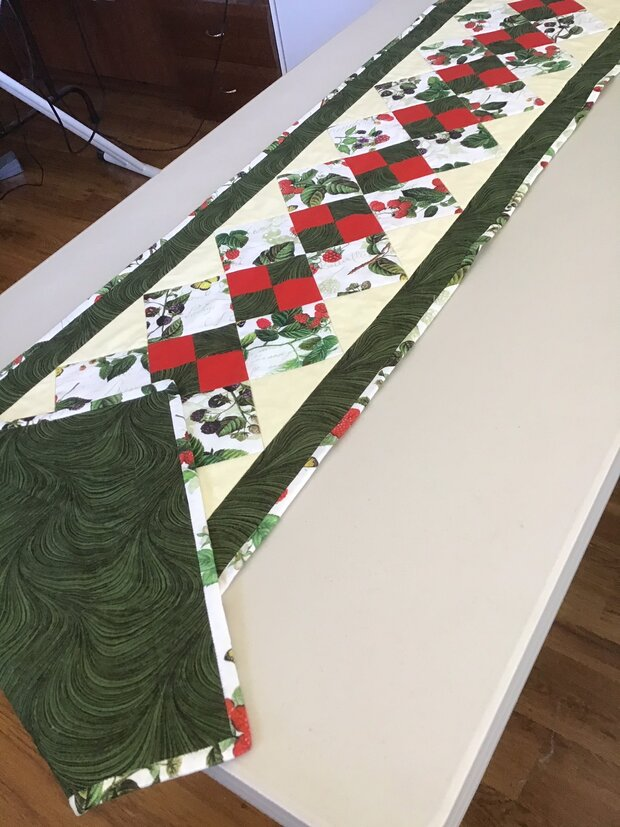 Berries & Butterfly Table Runner by  Della Cronkrite
